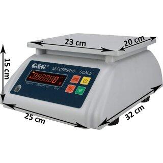 E-S Wasserdichte Tischwaagen, Versionen bis max. 30kg