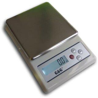 KF Küchenwaagen, verschiedene Modelle bis 10kg, ab 0,01g Genauigkeit (kleine Version) KF6000A: 0,1g/0,2g/0,5g/1g bis 6kg