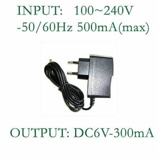 Netzteil AC-DC Adapter 6 V / 300 mA