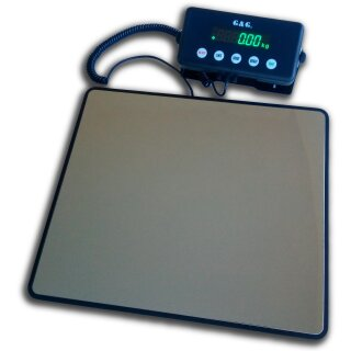 G&G PSE-B platform scales, various with 60kg / 1g, 100kg / 5g or 200kg / 10g. Parcel scales or bathroom scales with power supply unit or battery operation